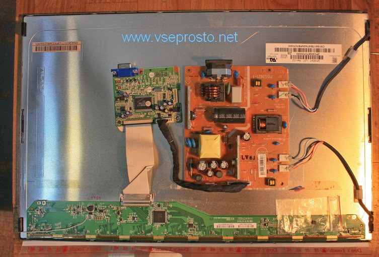 LCD монитор Philips, панель