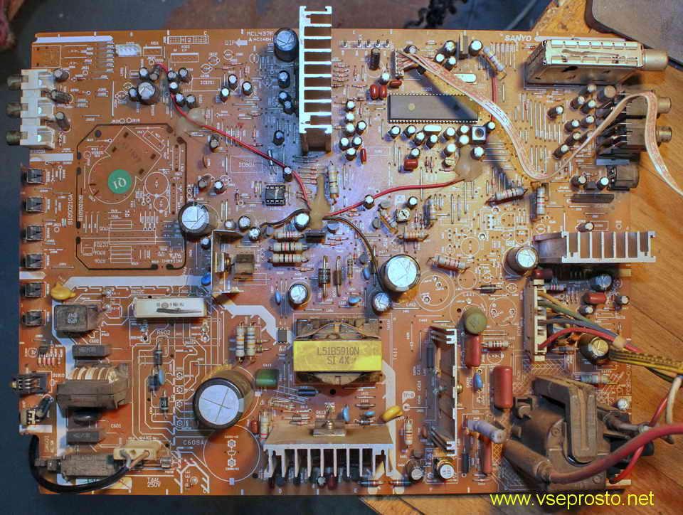 Электрическая схема переключателя diseqc