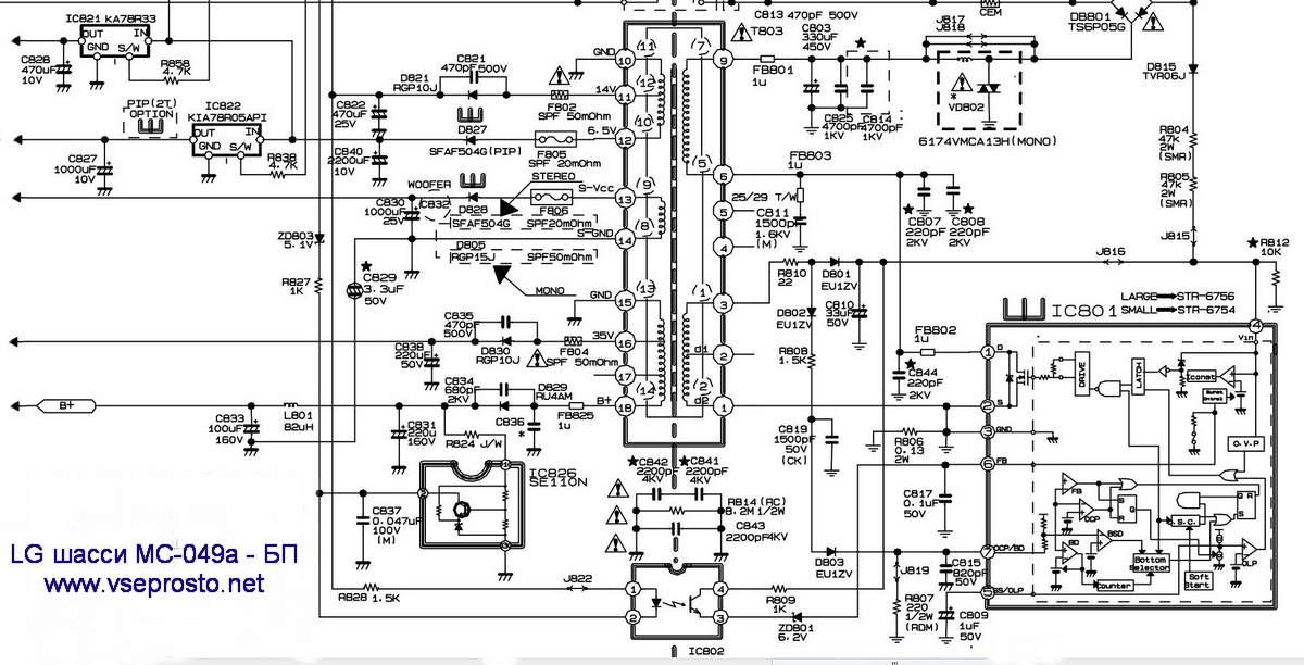 Схемы телевизоров lg 32