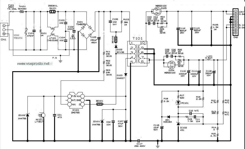 схема жк телевизора самсунг.