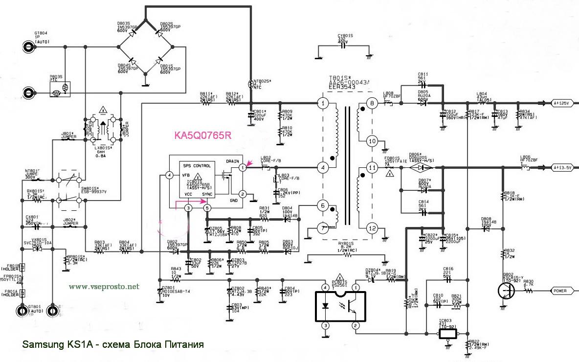 Samsung cs 20f1r схему