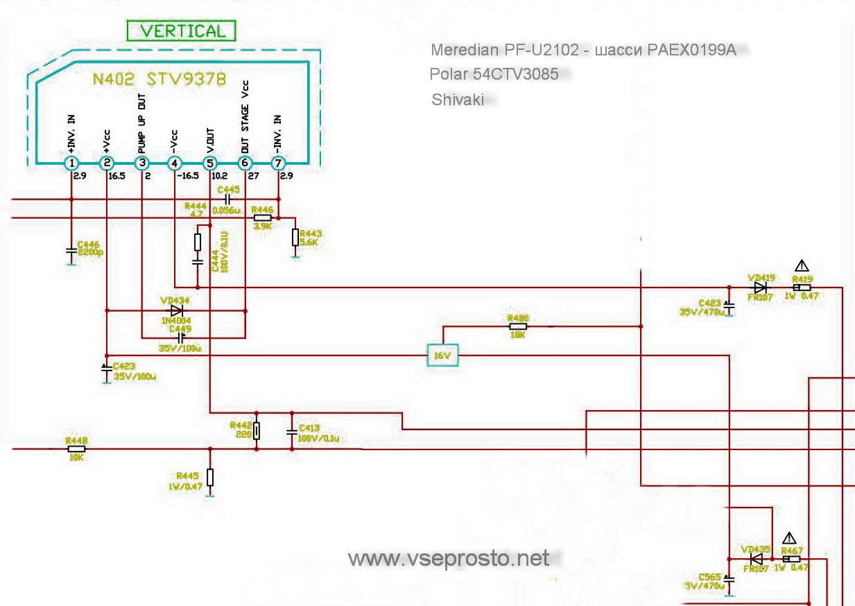 Stv9302b схема включения