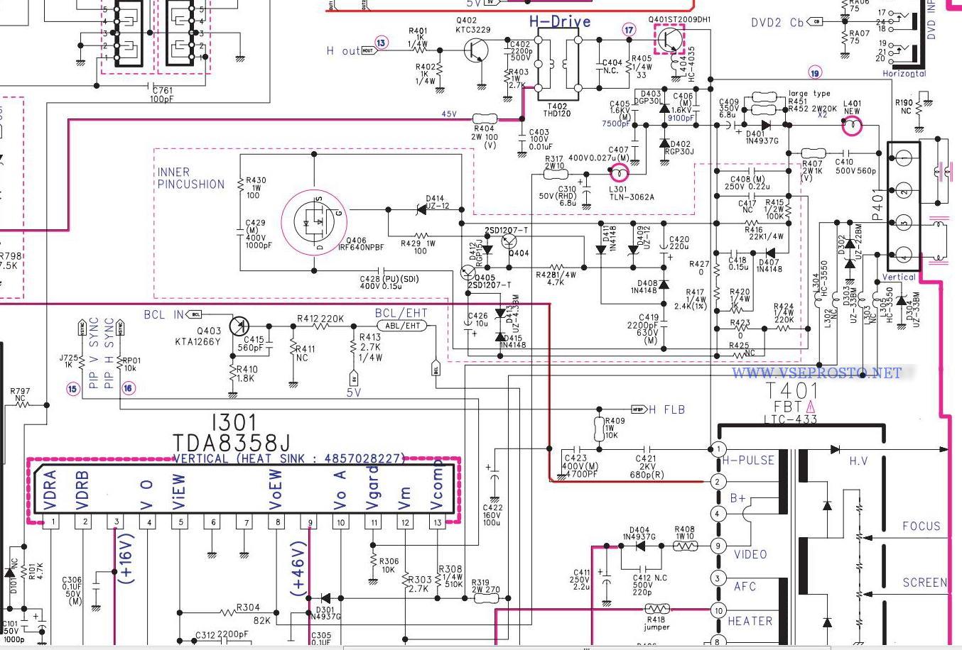 Схема на шасси cm-650