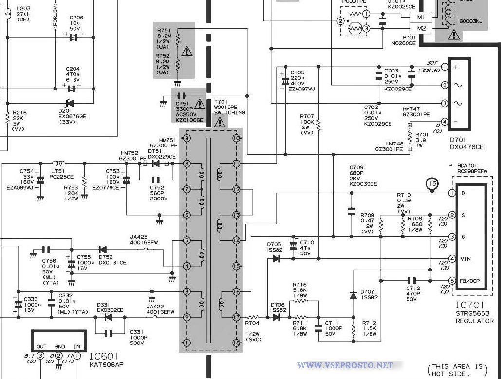схема телевизора orion t2168mj
