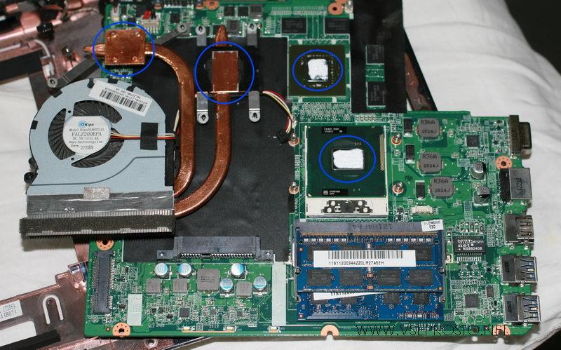 Нанесение новой теплопроводной пасты на процессор