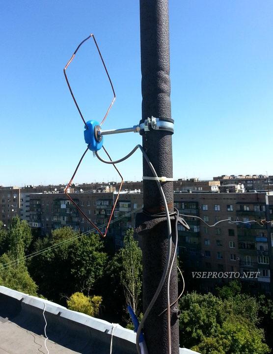 Простейшая антенна ДМВ в качестве наружной