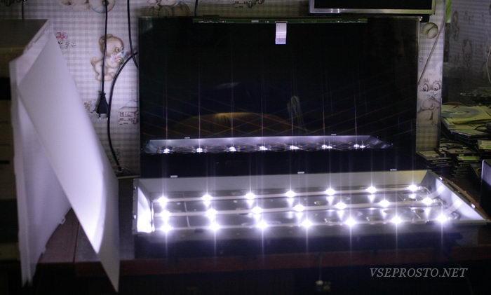 Ремонт подсветки LCD панели