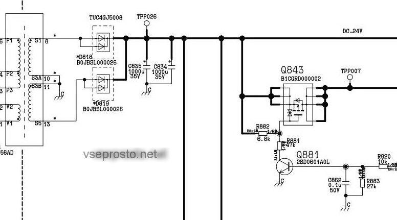 Panasonic TX-R32LX80 шасси LH80  схема